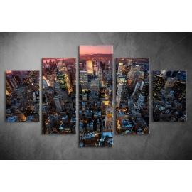 Többrészes Manhattan vászonkép 035 - (választható formák)