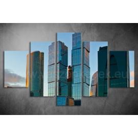 Többrészes Toronyházak vászonkép 051 - (választható formák)