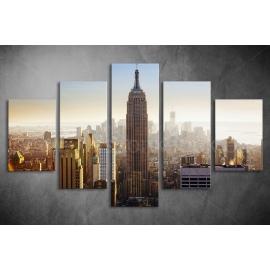 Többrészes Empire State Building vászonkép 054 - (választható formák)