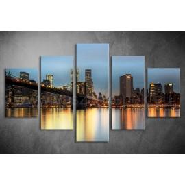 Többrészes New York vászonkép 059 - (választható formák)