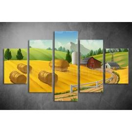 Többrészes Farm vászonkép 006 - (választható formák)