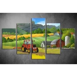 Többrészes Traktor vászonkép 007 - (választható formák)