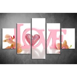 Többrészes Love vászonkép 008 - (választható formák)