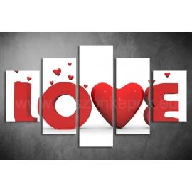 Többrészes Love vászonkép 009 - (választható formák)