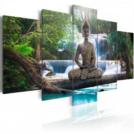 Kép Buddha and waterfall