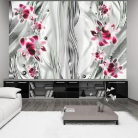Fotótapéta Pink orchid in platinum