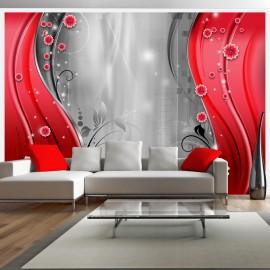 Fotótapéta Behind the curtain of red