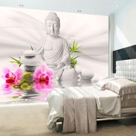 Fotótapéta Buddha and Orchids