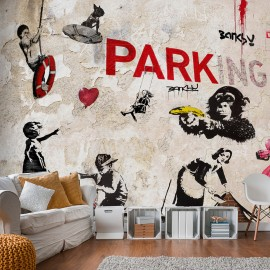 Fotótapéta [Banksy] Graffiti Collage