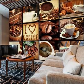 Fotótapéta Coffee Collage