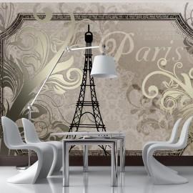 Fotótapéta Vintage Paris gold