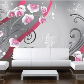 Fotótapéta Pink orchids variation