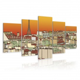 Kép Parisian sky in orange colour