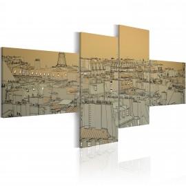 Kép Over the roofs of Paris (retro)
