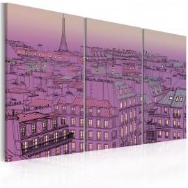 Kép Eiffel Tower in lilac colour