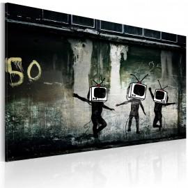 Kép TV heads dance (Banksy)