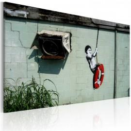 Kép Boy on a swing (Banksy)