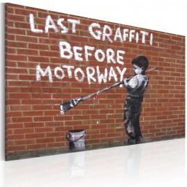 Kép Last graffiti before motorway (Banksy)