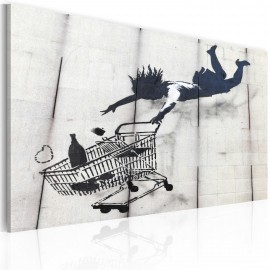 Kép Falling woman with supermarket trolley (Banksy)