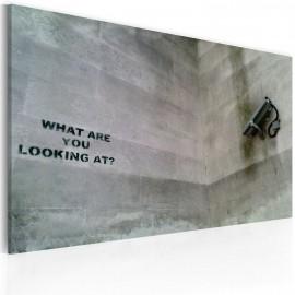 Kép Mit bámulsz? (Banksy)