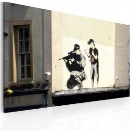 Kép Sniper and boy (Banksy)