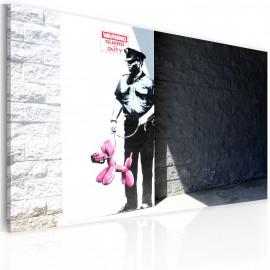 Kép Police guard and pink balloon dog (Banksy)