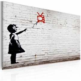Kép Girl with TV (Banksy)