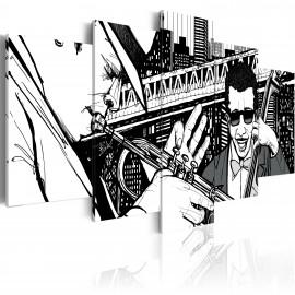 Kép Jazz koncert a háttérben a New Yorki felhőkarcoló 5 db
