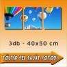 """Vászonkép - """"Triple"""" - 3db-os - 40x50cm"""