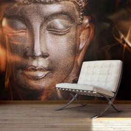 Fotótapéta Buddha. Fire of meditation.