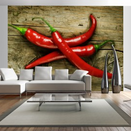 Fotótapéta Spicy chili peppers