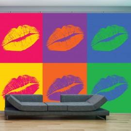 Fotótapéta lips (pop art)