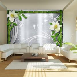 Fotótapéta Bamboo and two orchids