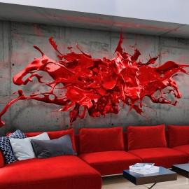 Fotótapéta Red Ink Blot