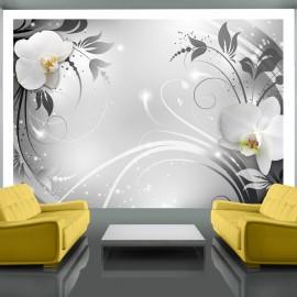 Fotótapéta Orchids on silver