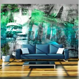 Fotótapéta Berlin collage (green)