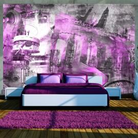 Fotótapéta Berlin collage (violet)