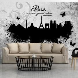 Fotótapéta Paris is always a good idea black and white