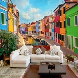 Fotótapéta Colorful Canal in Burano