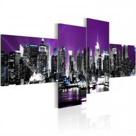 Kép New York on a violet background