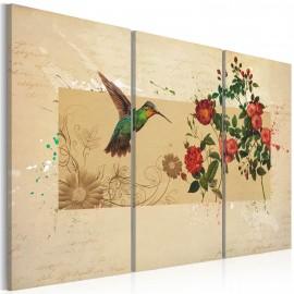 Kép Hummingbird and roses
