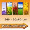 """Vászonkép - """"Quintet"""" - 5db - 30x80cm"""