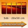 """Vászonkép - """"Quintet"""" - 5db - 20x50cm"""