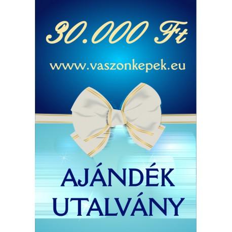 30.000 Ft értékű - Ajándékutalvány